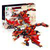 DIY Assembled Remote Control Storm Dragon Electric Building Blocks - RED