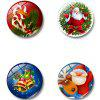 Simple Christmas Glass Magnetic Refrigerator Sticker 4pcs - MULTI-A