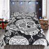 Quilt Cover Home Textile Bedding Three-piece Fashion Cool Pattern Couple Kit - BLACK