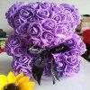 Rose Bear PE Hug Bear Eternal Flower Handmade Soap Flower Valentine Day Christmas Gift - PURPLE