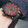OCHSTIN GQ049B Sports Casual Luminous Waterproof 6-pin Men's Quartz Watch with Box - RED
