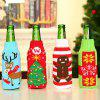 Christmas Bar Table Decoration Cartoon Knitted Wine Bottle Cover - MULTI-A