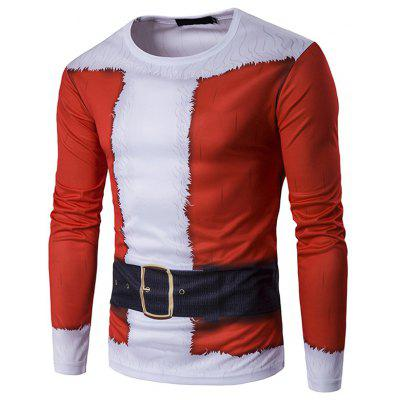 Men's Round Neck 3D Santa Claus T-shirt