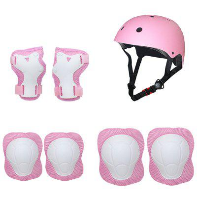 Children Balance Car Scooter Protective Gear Helmet Protective Gear Set Children Roller Skating Protective Gear Set 7pcs