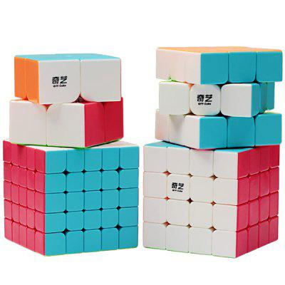 Bright Smooth Magic Puzzle Cube Set Educational Toys with Gift for Kids