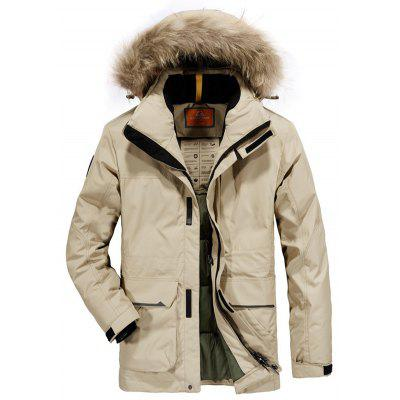 Down Jacket Large Thick Jacket  Long Fur Collar