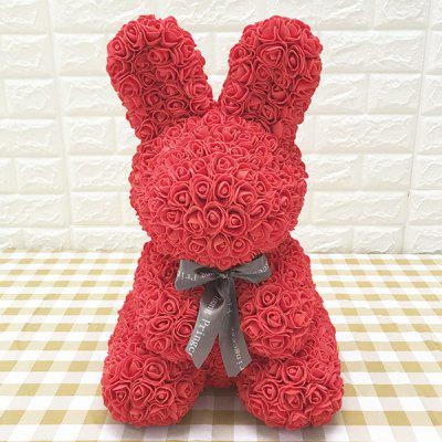 Creative Eternal Flower Rose Rabbit Christmas Gift With Gift Box