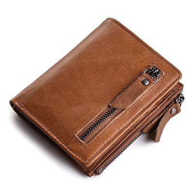 JINBAOLAI Men Leisure Wallet Portable Classic Zipper