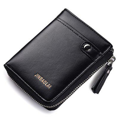 JINBAOLAI Men Leisure Wallet Portable Zipper Classic