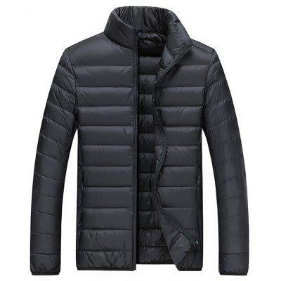 Thin  Men's Stand Collar Short Down Jacket