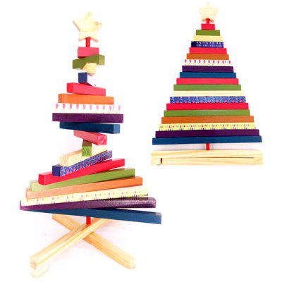Christmas Tree Ornaments Turn Striped Creative Gifts Wooden Children's Toys