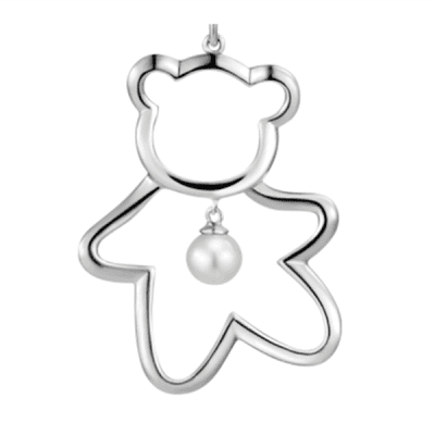 Xiaomi Youpin LUCKYME Cute Bear 925 Silver Inlaid Pearl Jewelry