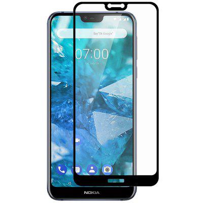 Hat Prince Full-size 0.26mm 9H 2.5D Full-screen Tempered Glass Protective Film for Nokia 7.1