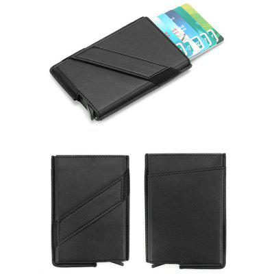 Anti-theft Card Package Carbon Fiber Clip Leather Portable