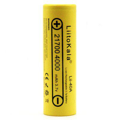 LiitoKala Lii - 40A 21700 3.7V 4000mAh Flat Top Battery
