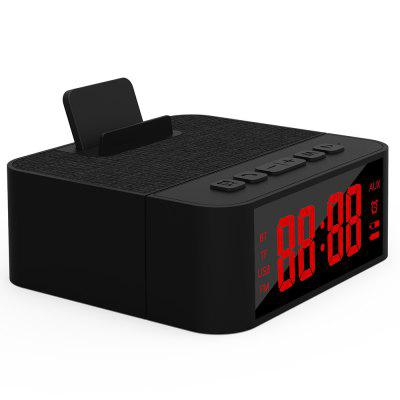X31 Wireless Fabric Bluetooth Speaker Mobile Phone Stand Alarm Clock