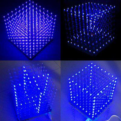 DIY Elektronická LED Cube 3D Light Square