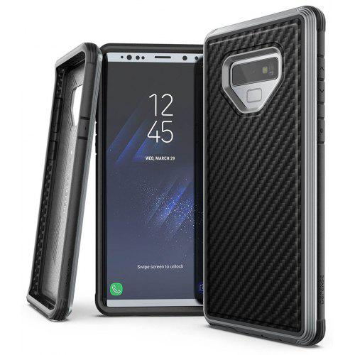 best website dce94 21a7a Metal Frame Hard Rubber Covered Carbon Fiber Mobile Phone Case for Samsung  Galaxy Note 9