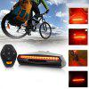 USB Charging LED Riding Turn Signal Mountain Bike Taillight Single Intelligent Warning Light - BLACK