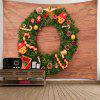 Christmas Elements Festive Wooden Door Tapestry - MULTI-A