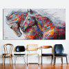 Two Horses Watercolor Decorative Oil Painting Animal Prints Living Room Decorative Picture - MULTI-A