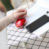 Portable USB Rechargeable Hand Warmer - LAVA RED