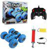 C5 Double-sided Stunt Car 2.4G Double-sided Large Bounce Car Inflatable Wheel Remote Control Car Toy - DODGER BLUE