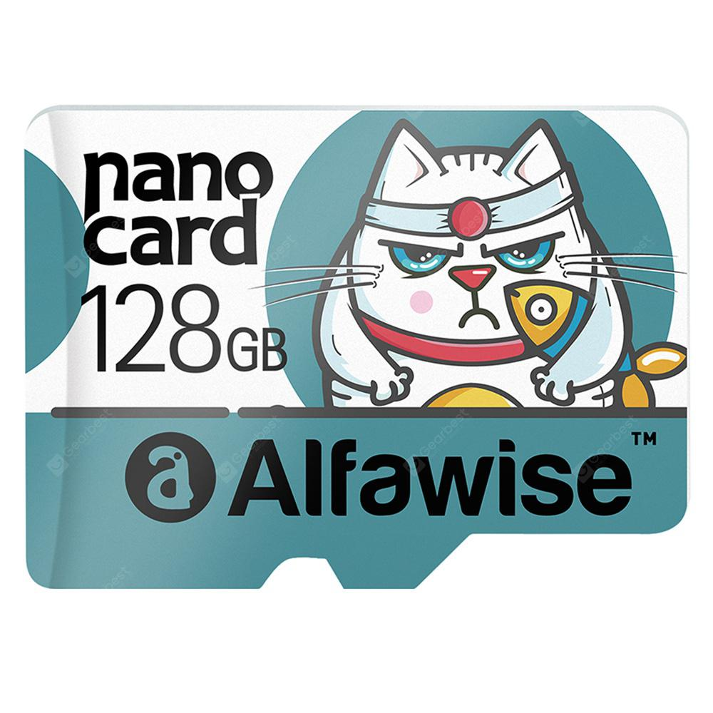 Alfawise 128GB UHS - 3 XC High Speed High Capacity Micro SD Card - MULTI GREENISH BLUE 128GB