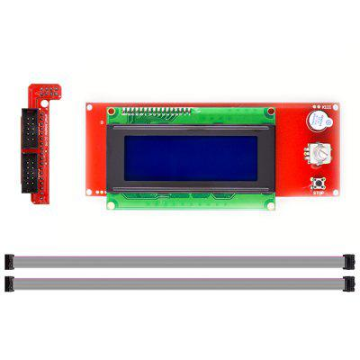 3 In 1 3D Printer Controller Board Set ( LCD Display 3D Printer Reprap Smart Controller Reprap Ramps 1.4 2004 LCD Control )