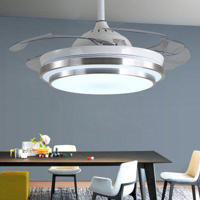 Invisible Fan Light Stepless Dimming LED Restaurant Chandelier 42 Inch Living Room Bedroom Silent Ceiling Fan Lighting