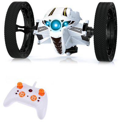 2.4G 2 Large Wheel Bouncing RC Car With Light - RTR Model Toy