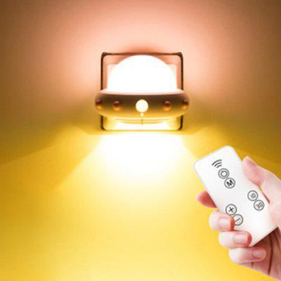 220V Plug-in Remote Control Creative Human Body Induction Lamp Flying Saucer Night Light