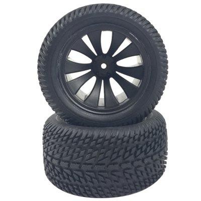 HBX 12056 Practical 1:12 Remote High Speed Model Racing Tire Rubber Wheel 2pcs
