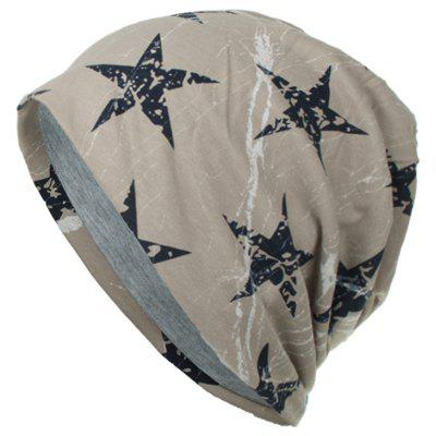 Simple Five-pointed Star Double Thin Cap