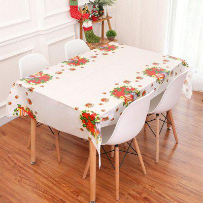 Christmas Decoration Disposable Waterproof Printed PVC Tablecloth