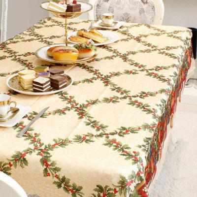 Beautifully Decorated Christmas Tablecloth
