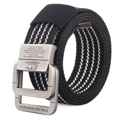 Men's Casual Alloy Double Buckle Canvas Belt