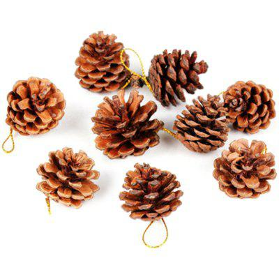 Decoratiuni de Craciun Decoratiuni de Craciun din Pin Natural 9pcs
