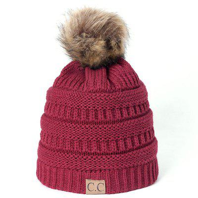 Outono Inverno Outdoor Plus Velvet Knit Hat