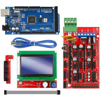 Mega 2560 R3 Mega2560 REV3 +RAMPS 1.4 Controller + RAMPS1.4 LCD 12864 LCD for 3D Printer Arduino Kit