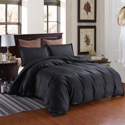 Three-piece Solid Color Bedding Set for Home Hotel