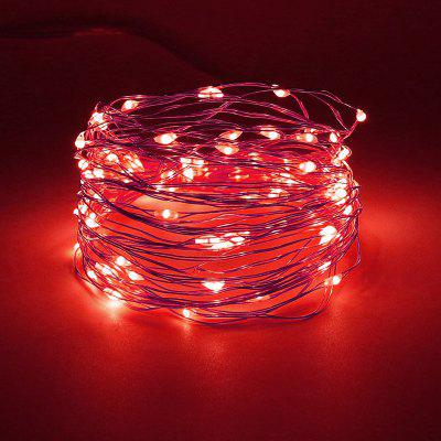 Brelong Eight Function USB Outdoor Waterproof Copper Wire String Lamp 100 Lights Red Light