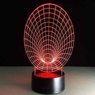 Abstract 3D Light Colorful Touch LED Lamp with Remote Control