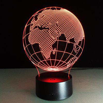 019 African Earth Creative 3D Acryl LED Light Kleurrijke Small Table Lamp