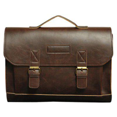 Men's Business Crazy Horse Leather Shoulder Bag