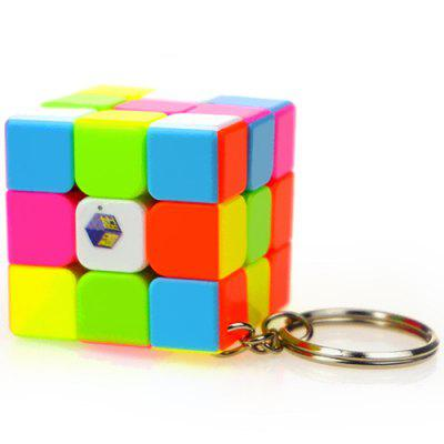 Derde-orde kleuren mini sleutelhanger Magic Cube 35 mm