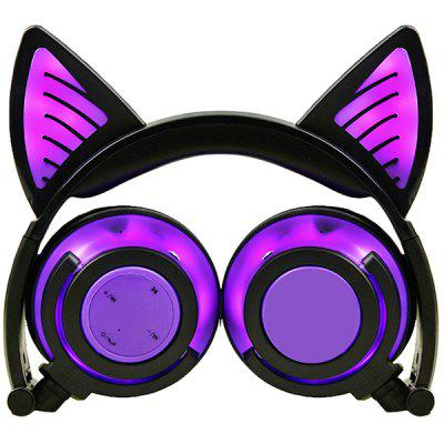 LX - BBL108 Cat Ear Bluetooth Headphones Foldable Wireless Headset