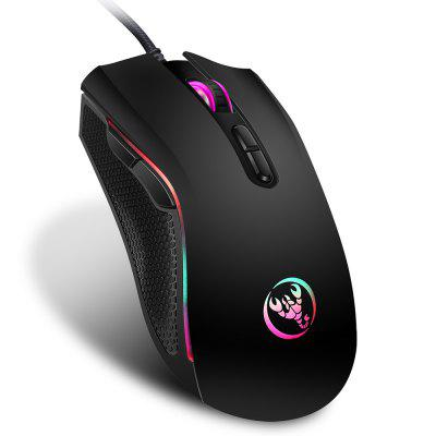Gearbest HXSJ A869 Wired Gaming Mouse - BLACK