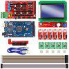 8 In 1 3D Printer Controller Set (CNC 3D Printer Kit for Arduino Mega 2560 R3 + RAMPS 1.4 Controller + LCD 12864 + 6 Limit Switch Endstop + 5 A4988 Stepper Driver) - MULTI