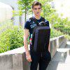 HUWAIJIANFENG Men Anti-theft Backpack USB Chargeable Outdoor Traveling - DARK GRAY